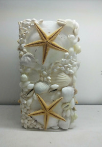 Sea shell starfish lamp. Night light. Hamptons coastal beach home decor.