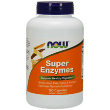 NOW Foods Super Enzymes, 180 Capsules - Support Healthy Digestion