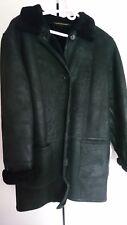 Women's Genuine Shearling Coat, Black