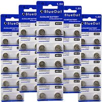 FIFTY (50) L1154 AG13 LR44 357 A76 BATTERY WHOLESALE RETAIL CARD SHIPS FROM USA