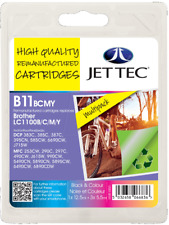 JetTec Remanufactured Inks To Replace Brother LC1100VALBP Multipack BK/C/M/Y