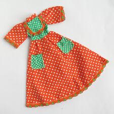 Vicma Carina Naranja De Lunares Vestido | Español Barbie, Sindy, 11,5 Muñeca De Moda