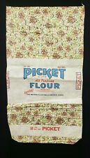 New ListingBest Vintage Feedsack Quilt Fabric With Label 50 Pounds Weiser, Idaho Green
