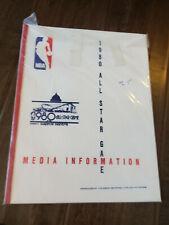 1980 NBA ALL STAR GAME MEDIA INFORMATION GUIDE BIRD MAGIC ERVING KAREEM HAYES