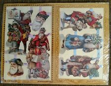 Christmas and Santa Antique Scrap Cut Outs Sealed Sheet by Evergreen Press 1987