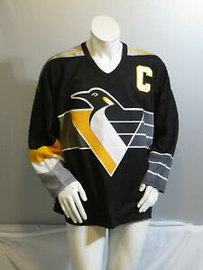 Pittsburgh Penguins Jersey (VTG) - Mario Lemieux Away Jersey by CCm - Mens Large