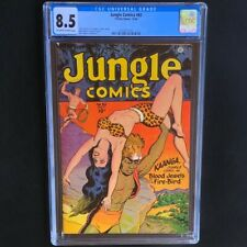Jungle Comics #82 💥 CGC 8.5 OW-W 💥 Rare Kaanga Cover! Fiction House 1946