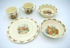 Lot 5 Pieces Royal Doulton Bunnykins Bone China Children's Dishes