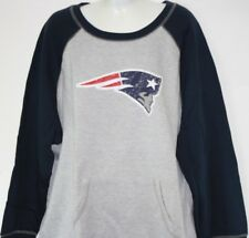 NEW Womens NFL Majestic New England Patriots Crew Neck Vintage Look Sweatshirt