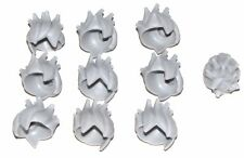 LEGO LOT OF 10 NEW LIGHT BLUISH GREY SPIKY SPIKED HAIR MINIFIGURE