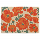 HF by LT Poppies Rug, 24 x 36 inches, Hand-Hooked 100% Wool Floral Accent Rug,