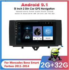 For Mercedes Benz Smart Fortwo 2011-2014 9'' 2+ 32GB Car Stereo Radio GPS WIFI