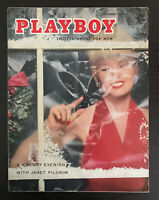 Playboy Magazine - December 1955 - Janet Pilgrim Holiday Cover & Centerfold