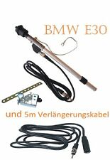 BMW E30 Kotflügel Antenne Teleskopantenne DIN-Stecker 5m Verlängerung SET