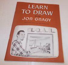 LEARN TO DRAW JON GNAGY 1950.  .