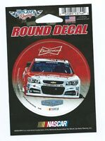 KEVIN HARVICK #4 round decal Nascar Racing 3 in dia Budweiser