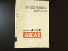 Original Service Manual Schaltplan AKAI GXC-750D