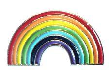 LGBT Rainbow Pride Lesbian Gay Bisexual Transgender Metal Enamel Badge Lapel Pn