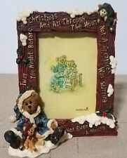 Boyd's Bears Christmas 27302 Edmund The Night Before Christmas Picture Frame