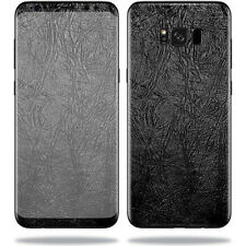 Skin Decal Wrap for Samsung Galaxy S8+ Plus sticker Black Leather