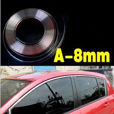 8MM X 15M Universal Car Moulding Trim Chrome Strip Interior Decoration