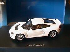 LOTUS EUROPA S WHITE 2006 AUTOART 55358 1/43 BLANCHE BIANCA RIGHT HAND DRIVE RH