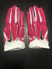NIKE SUPERBAD 3.0 PADDED FOOTBALL GLOVES, PINK WHITE BLACK NFL BCA size 2XL XXL