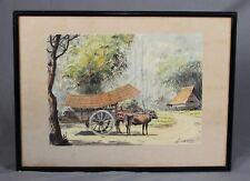 Abu Bakar Ibrahim 1925-1977 Malaysian Indonesian Watercolour Painting