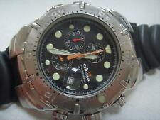 LARGE ST / STEEL RARE ELLESSE DATE 300M PROFESSIONAL DIVERS CHRONOGRAPH WATCH