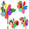 21inch Cartoon Bee Dog Animal Windmill Wind Spinner Garden Yard Decor Toy Candy