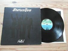 STATUS QUO - HELLO-GREAT AUDIO-VG+ VINYL LP 1973