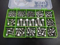 200 Piece M3, M4, M5 M6 & M8  Allen Socket Cap Screw Kit. A2-70 Stainless Steel.