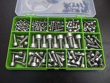 200 Pièce M3,M4,M5 M6 & M8 Clé Allen Douille Capuchon Vis Kit. A2-70 Acier Inox