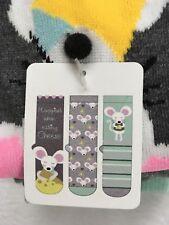 Ladies 3 Pair Socks Mouse Cheese Novelty Socks Shoe Size (4-10) Sock Sz (9-11)