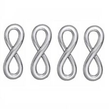 100 pcs AntiqueStyle Silver Tone 8 Infinity Sign Necklace Pendants Charms Y16