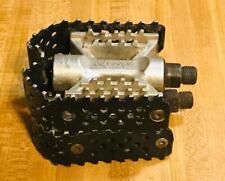 Vintage Odyssey Triple Trap BMX Bike Pedals 1/2 Inch Black Old School