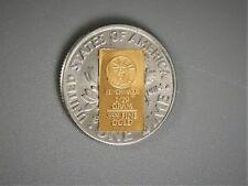 1/10 Gram Gold Bar  24K 999.9 Fine Gold Bullion Bar in sealed cert card 11a