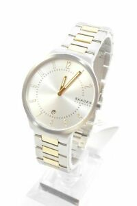 Skagen SKW6516 Grenen Silver Dial Two-Tone Stainless Steel Men's Bracelet Watch