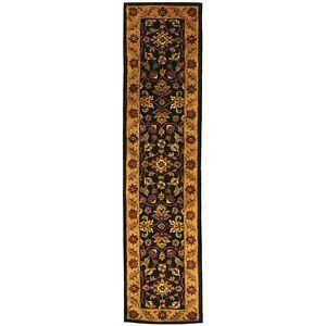 Safavieh Golden Jaipur BLACK / GOLD Wool Runner  2' 3 x 10'