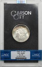 1884-CC $1 NGC/GSA HOARD MS65 (Rainbow Color) Morgan Silver Dollar W/ Box + COA