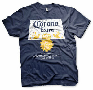 Official Corona Extra Washed Label Merchandised T-Shirt S-XXL Sizes