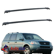 Pair For 2003-2008 Honda Pilot Aluminum Roof Rack Top Rail Cross Bar