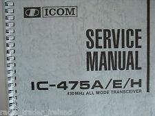 Icom-475a / E / H (véritable service manuel uniquement).......... radio_trader_ireland.