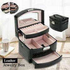 Multi Layer Jewelry Earring Ring Display Storage Box Women Accessory Organizer