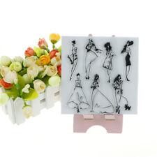 Elegant Model Pattern Stamps Seal Scrapbook Album Card Decor Diary Diy CrafBG