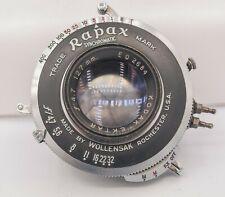 "Kodak Ektar 127mm F4.5 Graflex 4x5"" Large Format Lens w/ Rapax Shutter"
