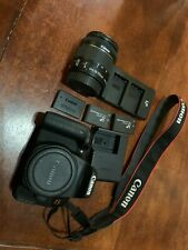 Canon EOS Rebel T7i / EOS 800D 24.2MP Digital SLR Camera WITH LENS + BATTERIES