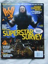 WWE MAGAZINE December 2009 UNDERTAKER + UNDERTAKER Poster Inside