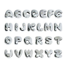 26pcs cute fat Slide letters A-Z 8mm slide charms Fit name collar charm bracelet