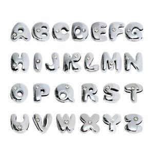 26pcs cute fat Slide letters A-Z 8mm slide charms Fit name collar charm bracelet